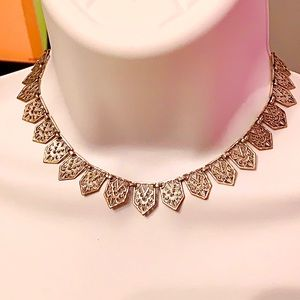 1920'S ART DECO FILIGREE ICHTHUS GEOMETRIC CHOKER